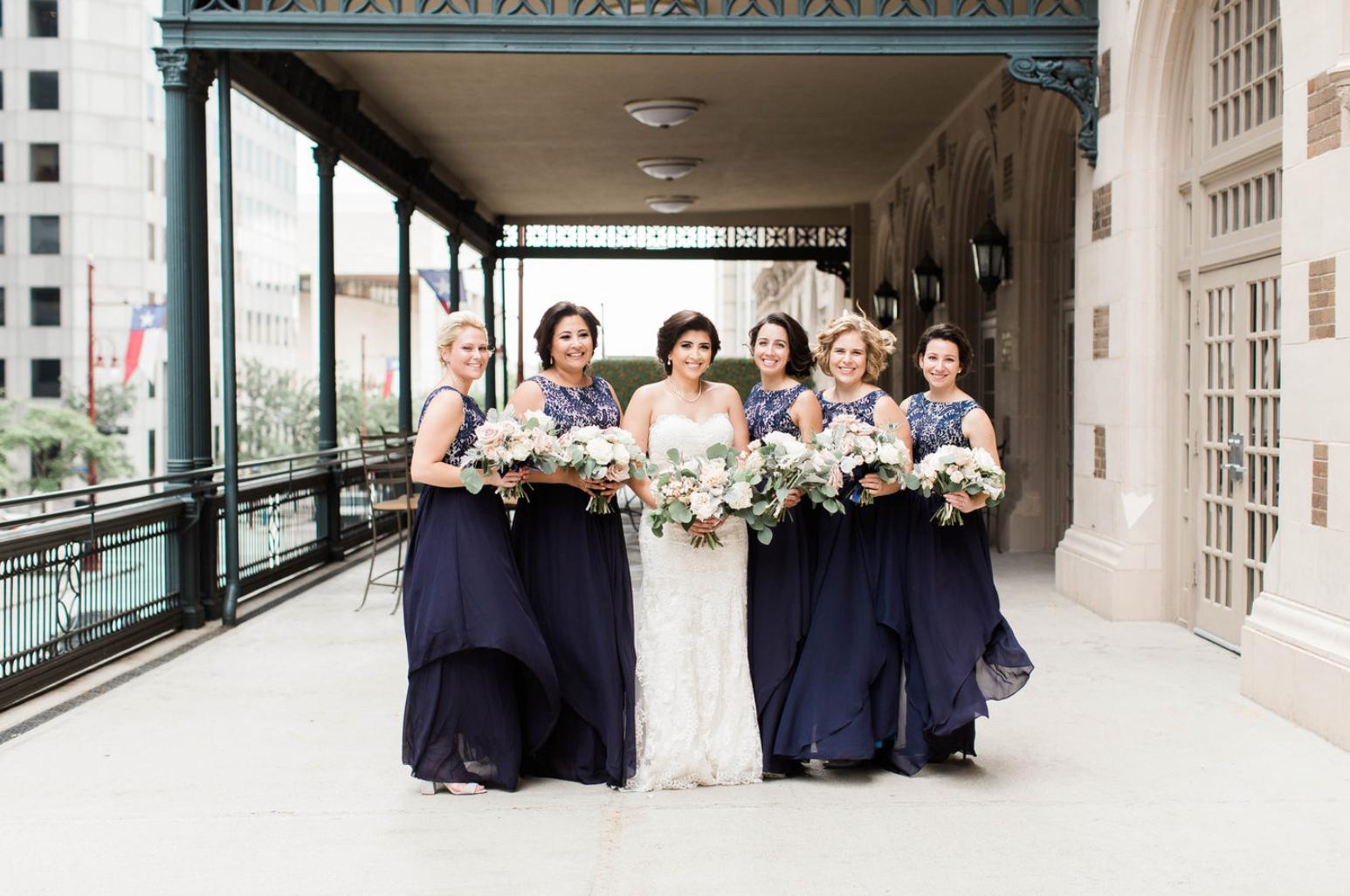 bride-bridesmaids-navy-dress-crystal-ballroom-airy-wedding-bouquet-by-maxit-flower-design-in-houston-texas