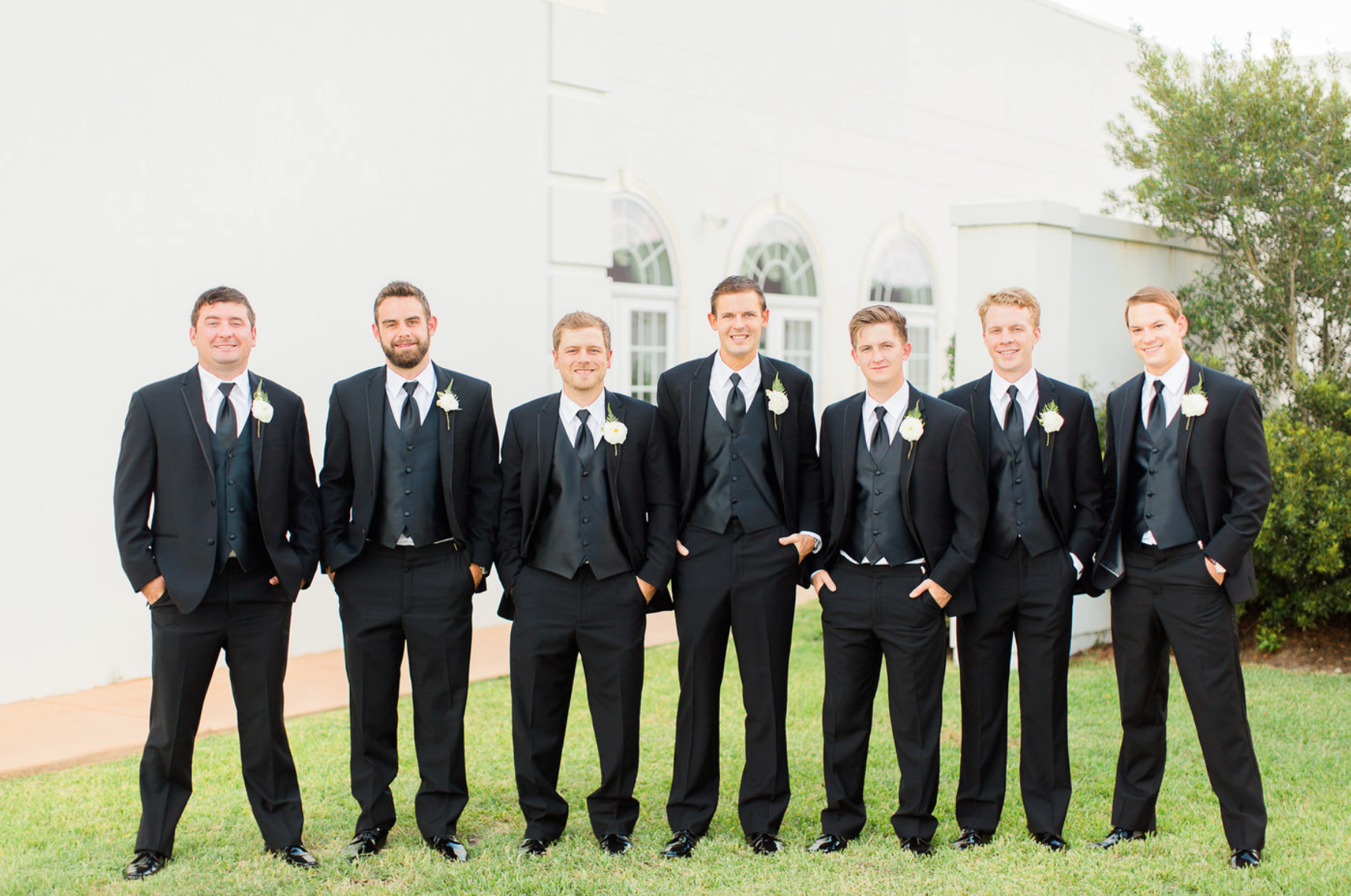 groom-groomsmen-black-suit-boutonnieres-florals-by-maxit-flower-design-in-houston-texas