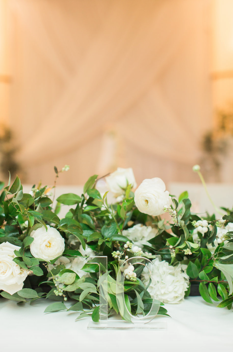 reception-table-garland-acrylic-number-rose-ranunculus-white-greenery-ribbon-florals-by-maxit-flower-design-in-houston-texas