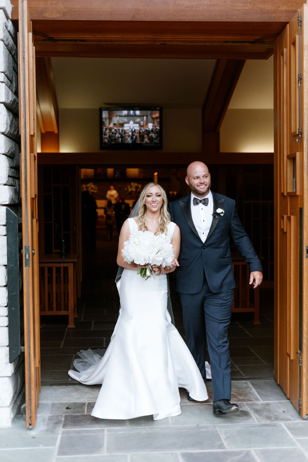 Bride and groom after wedding.Photography:  Josh & Dana Fernandez , Event Design & Floral:  Maxit Flower Design , Event Planner: Emily Moise,  Keely Thorne Events