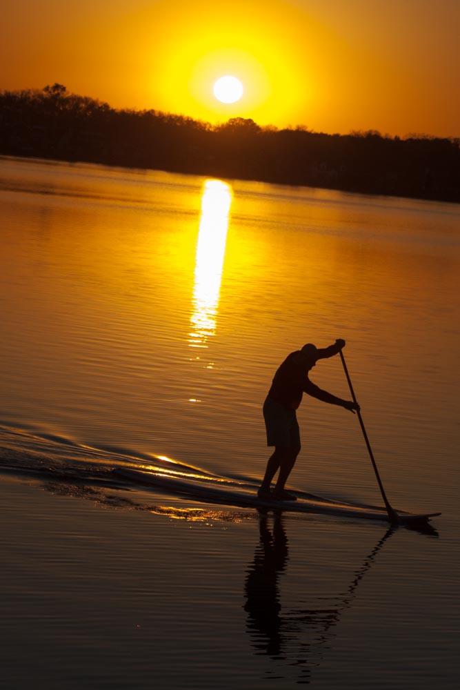 Sunset Paddling on Monona Bay