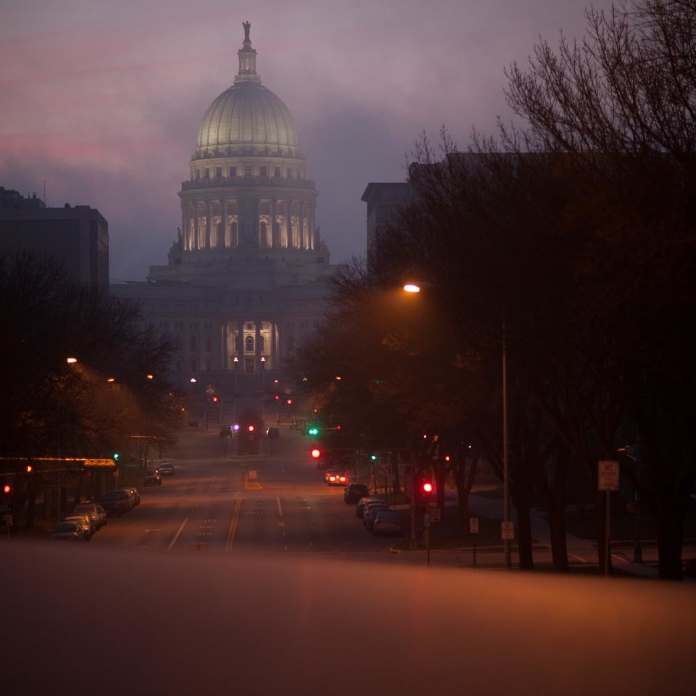 State Capitol from Wisconsin Avenue