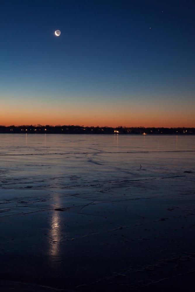 Winter Sunrise, Lake Monona