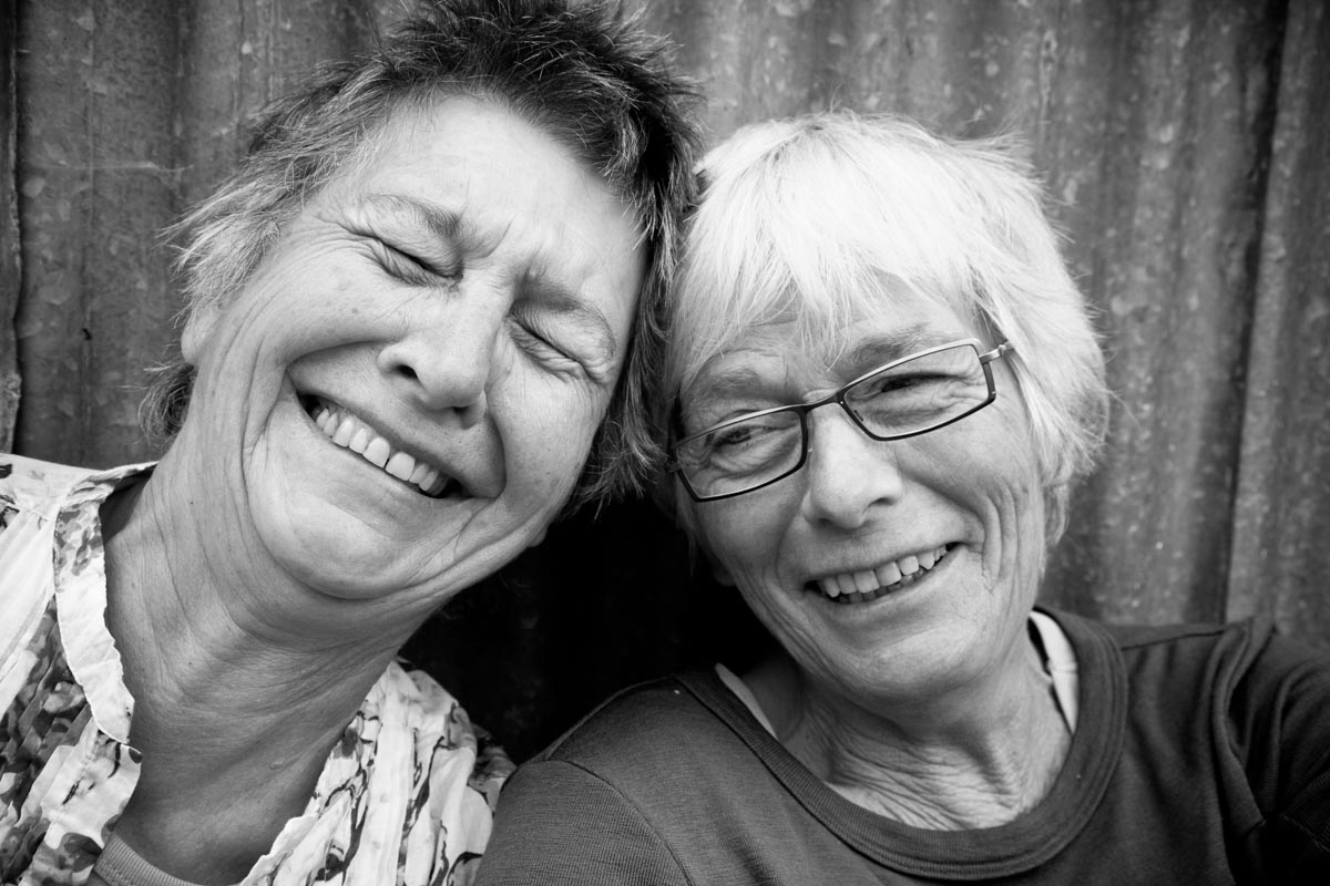 Two Smiling Women by Madison WI photographer Nick Wilkes