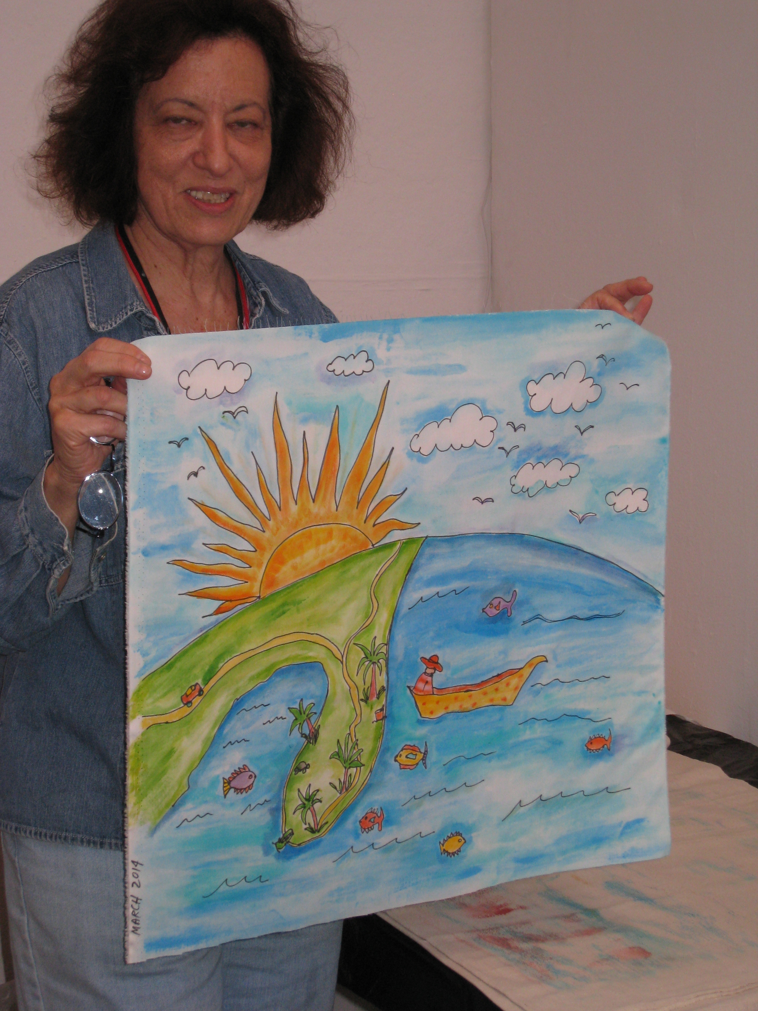Susan Rienzo with a work in progress using Susan Shie's approach