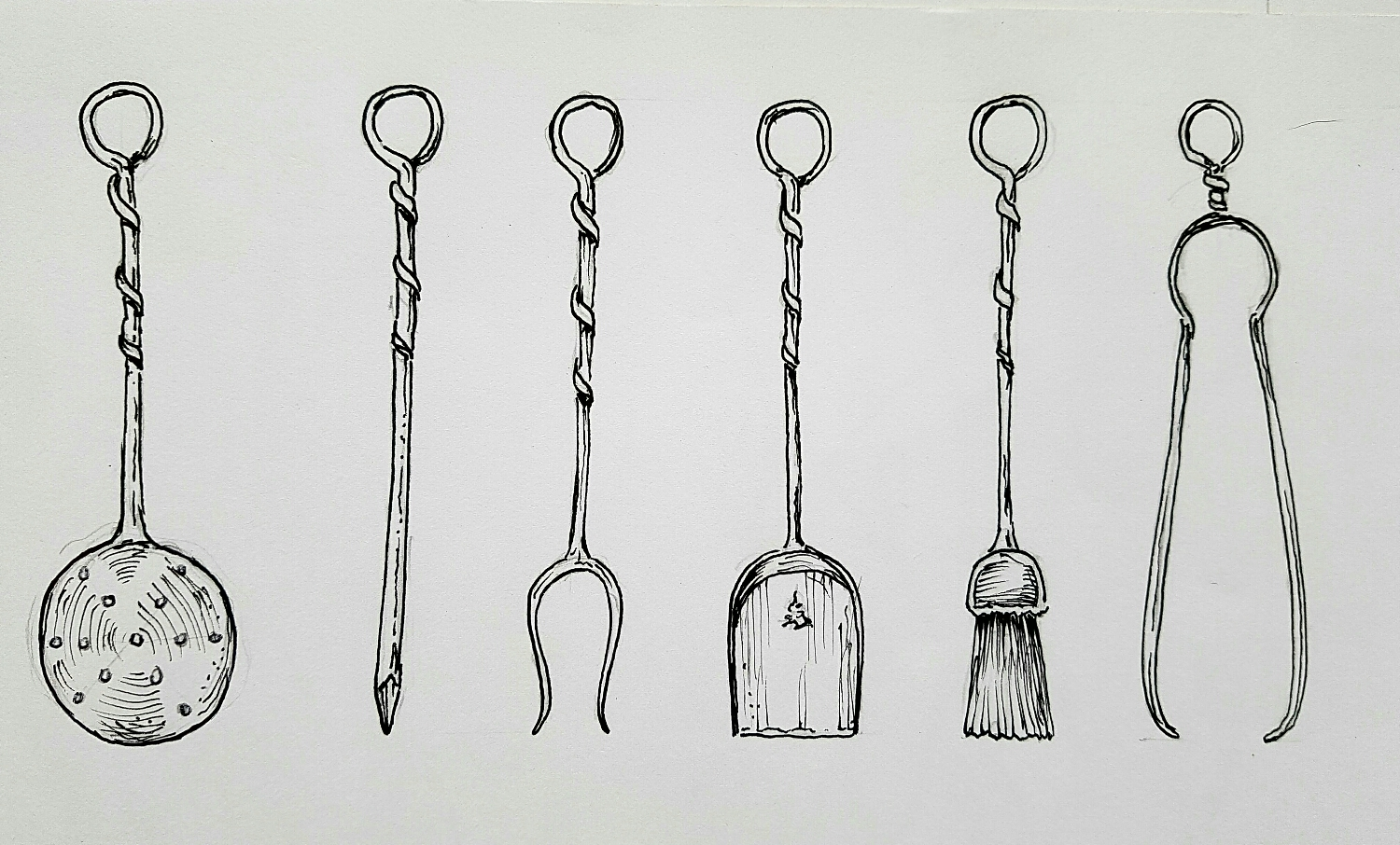 Roger's sketch of our mix&match firetools