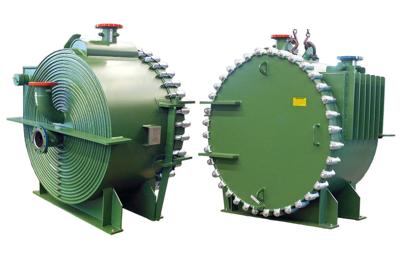Sludge Spiral Heat Exchanger, Front & Back View