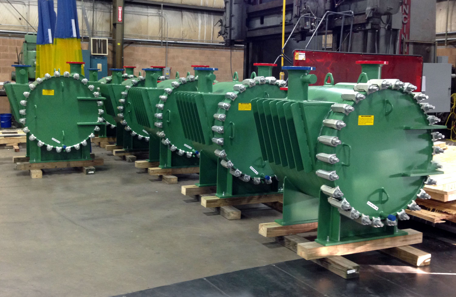 Type 1-DO Spiral Sludge Digester Heaters   Partial shipment of six (6) Gooch Thermal spiral heat exchangers for one of the world's largest wastewater treatment plants in Mexico.