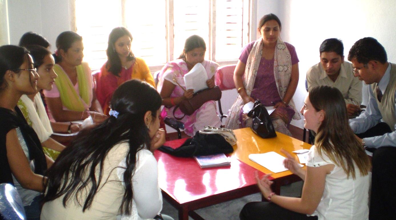 Bonnie working with teachers in Kathmandu, Nepal (2007).