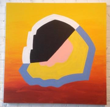 Dawn Arrowsmith,  Berlin with Hilma , 2016, acrylic on canvas, 36x 36 inches.