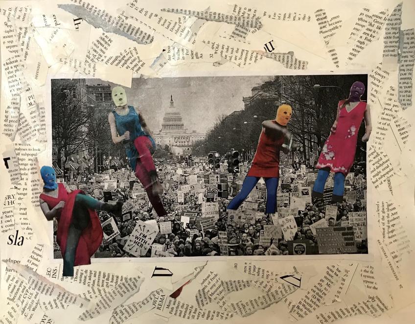 "Brandt, Eleanor.  Untitled . 207. 11"" x 14"". Collage on paper. John Adams Middle School."
