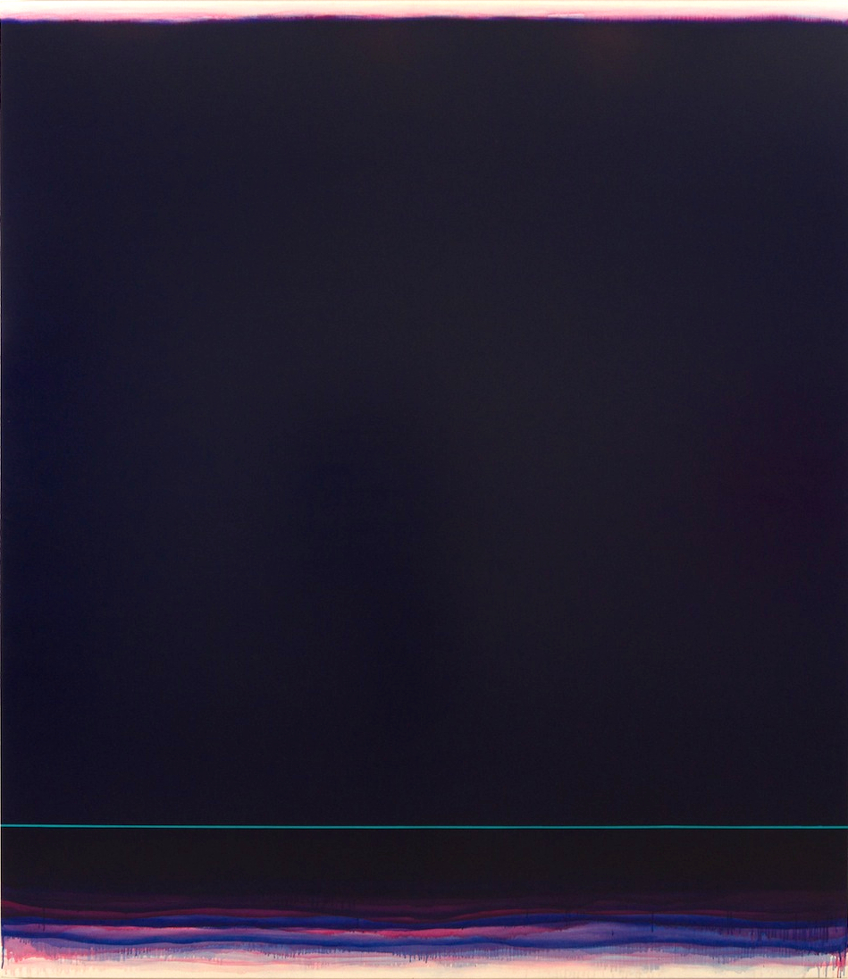 Infinite Space (blue-magenta),  2018 ,  Oil on linen ,  96 x 82 inches