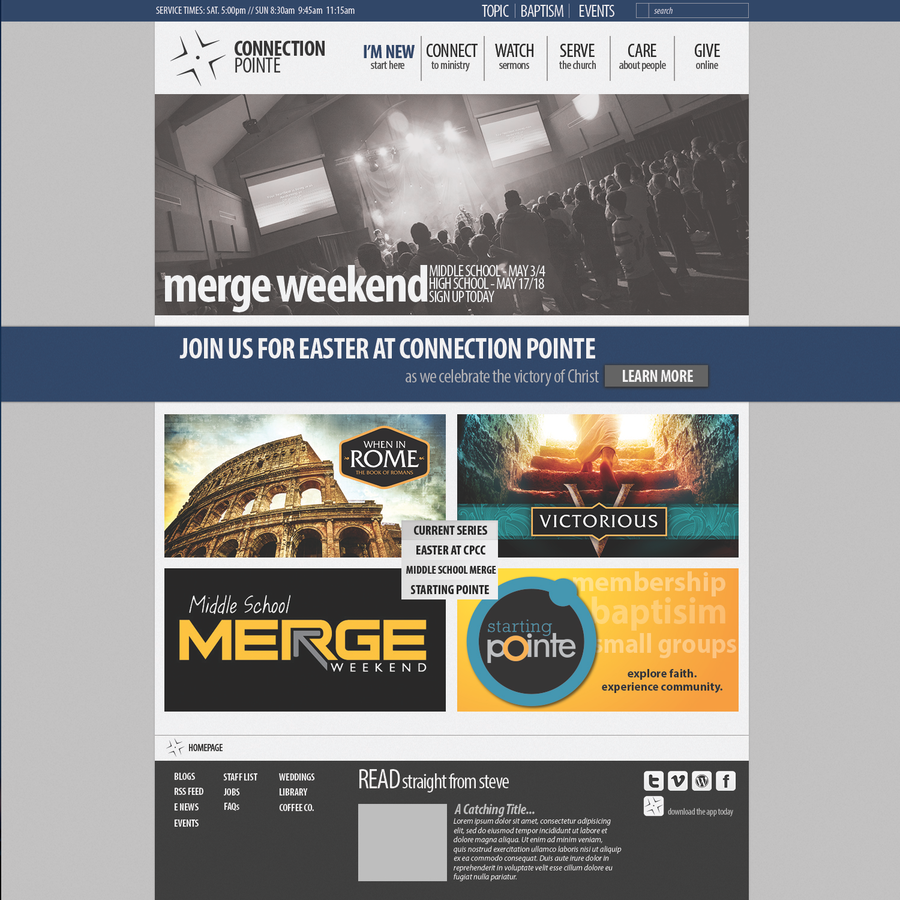 Connection Pointe Website Design