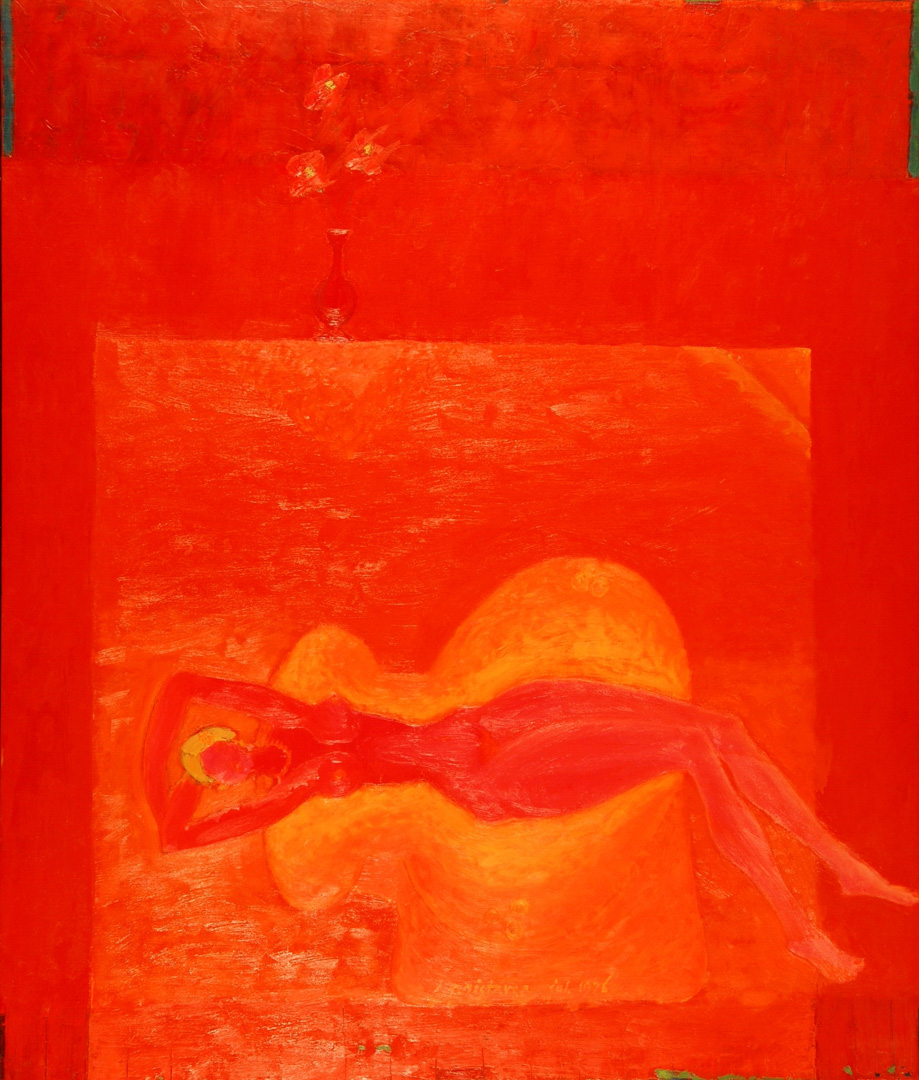 Red  / 1976 / oil on canvas / 70 x 100 cm