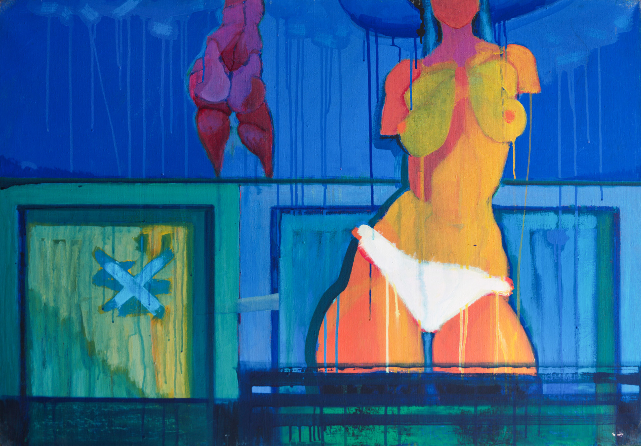 Modernistic nude  / 1976 / oil on canvas / 70 x 100 cm