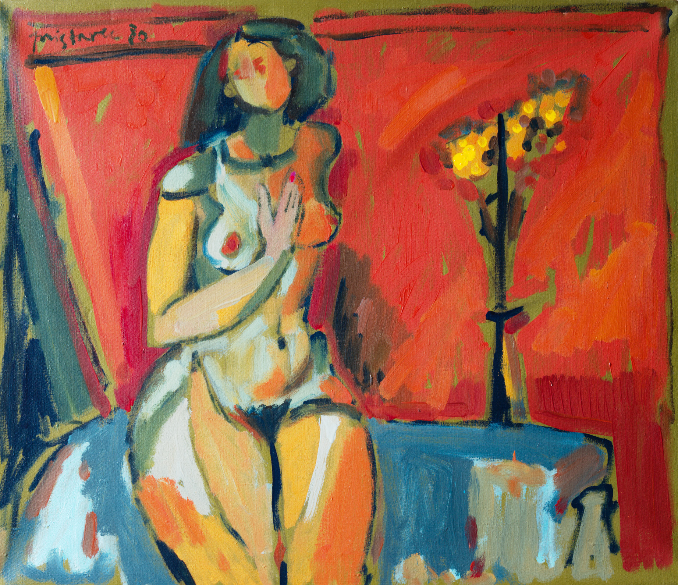 Gentle  / 1980 / oil on canvas / 80 x 70 cm