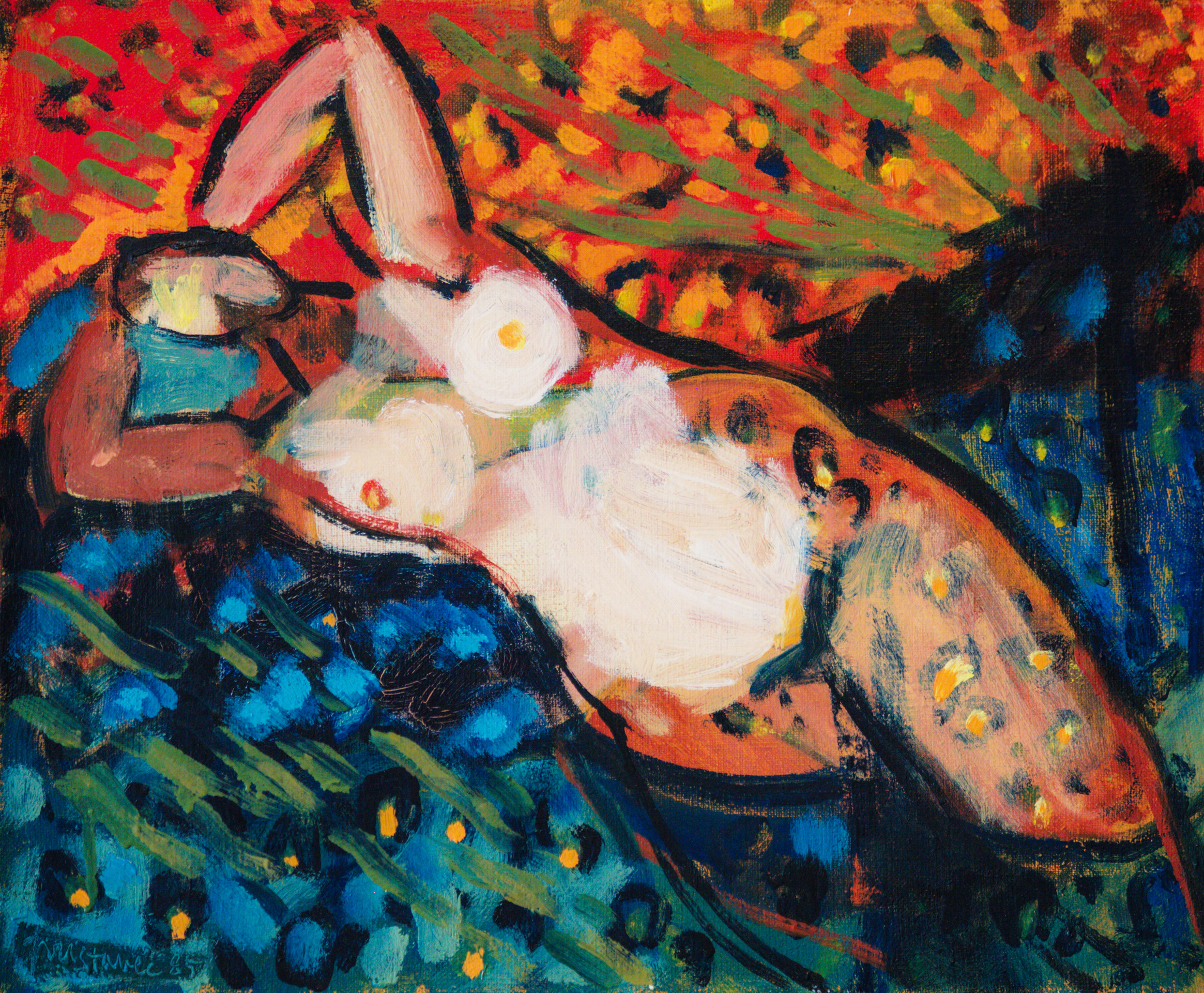 In nature  / 1985 / oil on canvas / 37 x 45cm