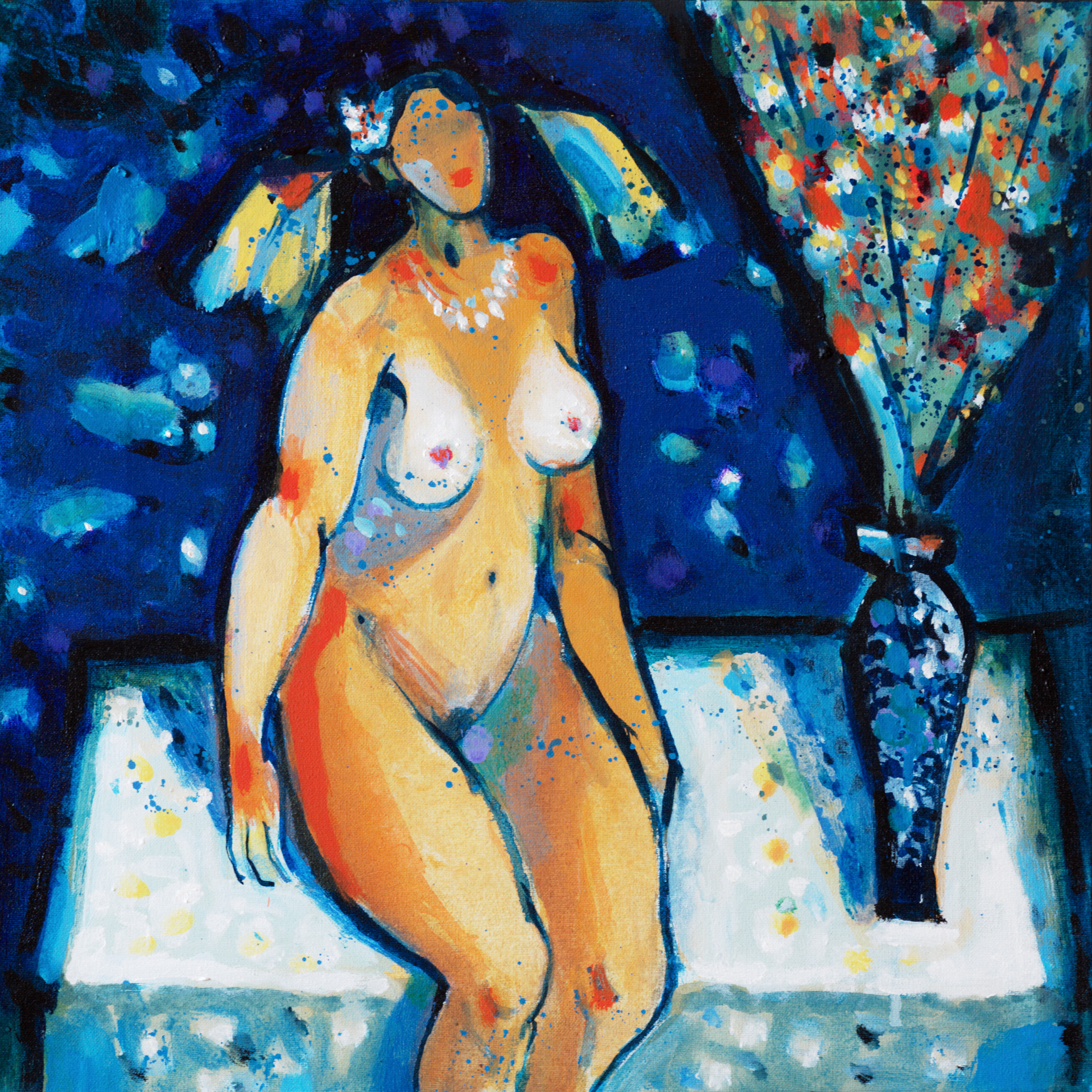 Blue Studio  / 1989 / oil on canvas / 40 x 40cm