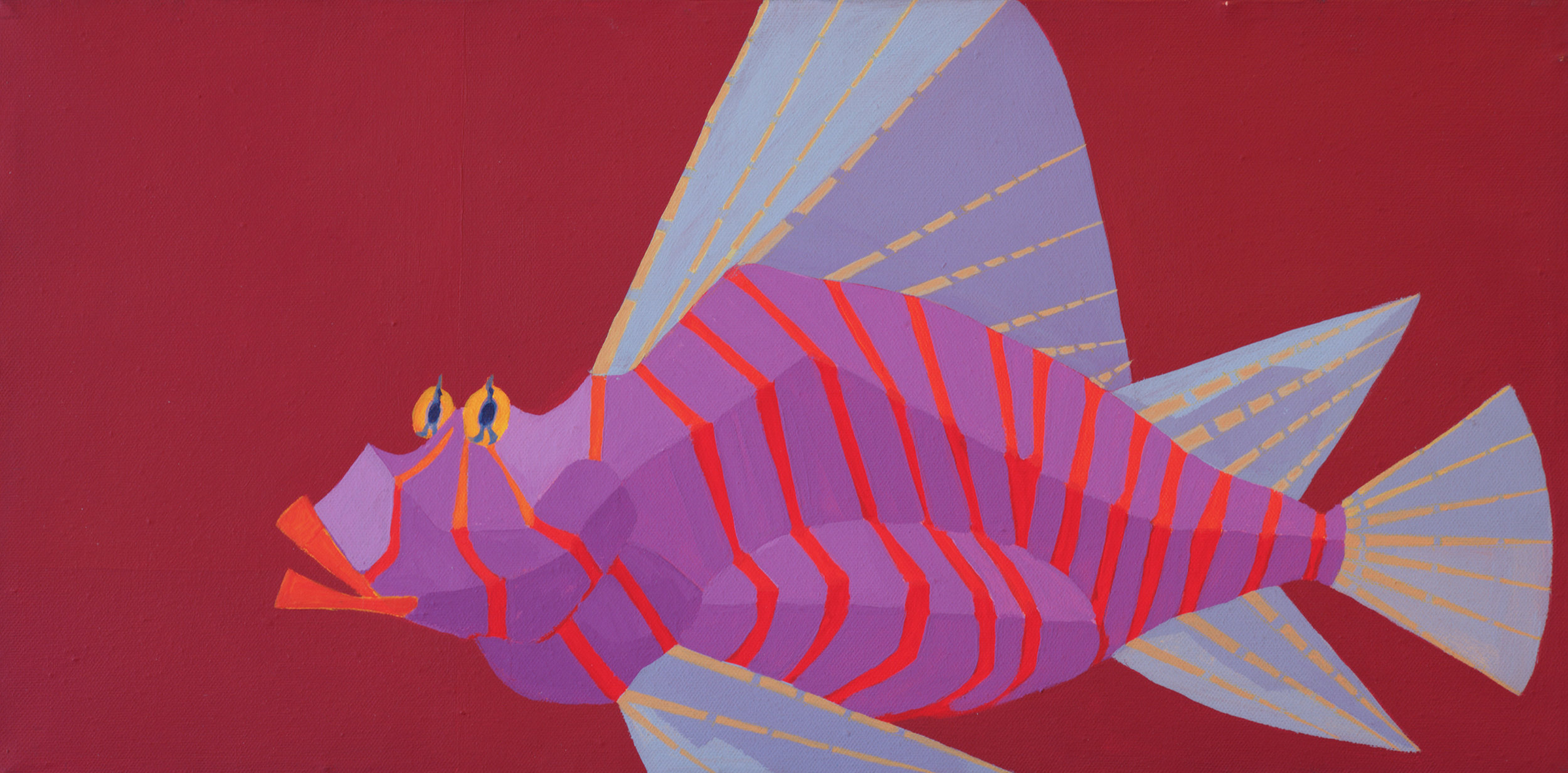 Red Fish  / 1976 / oil on canvas / 60 x 30 cm