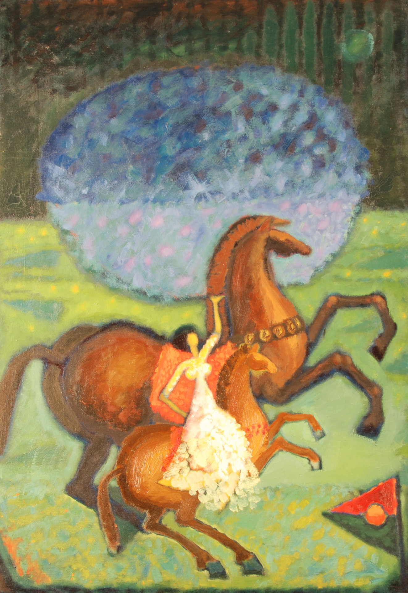 Horses  / 1977 / oil on canvas / 100 x 70 cm