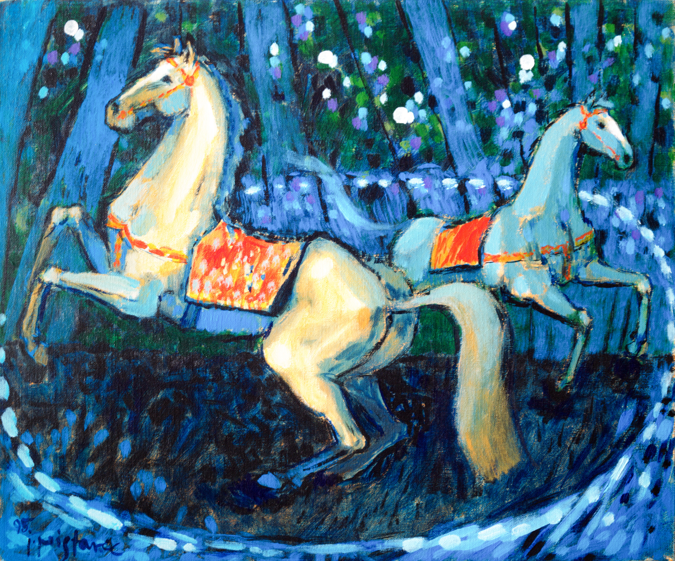 Horses  / 1995 / oil on canvas / 60 x 50 cm