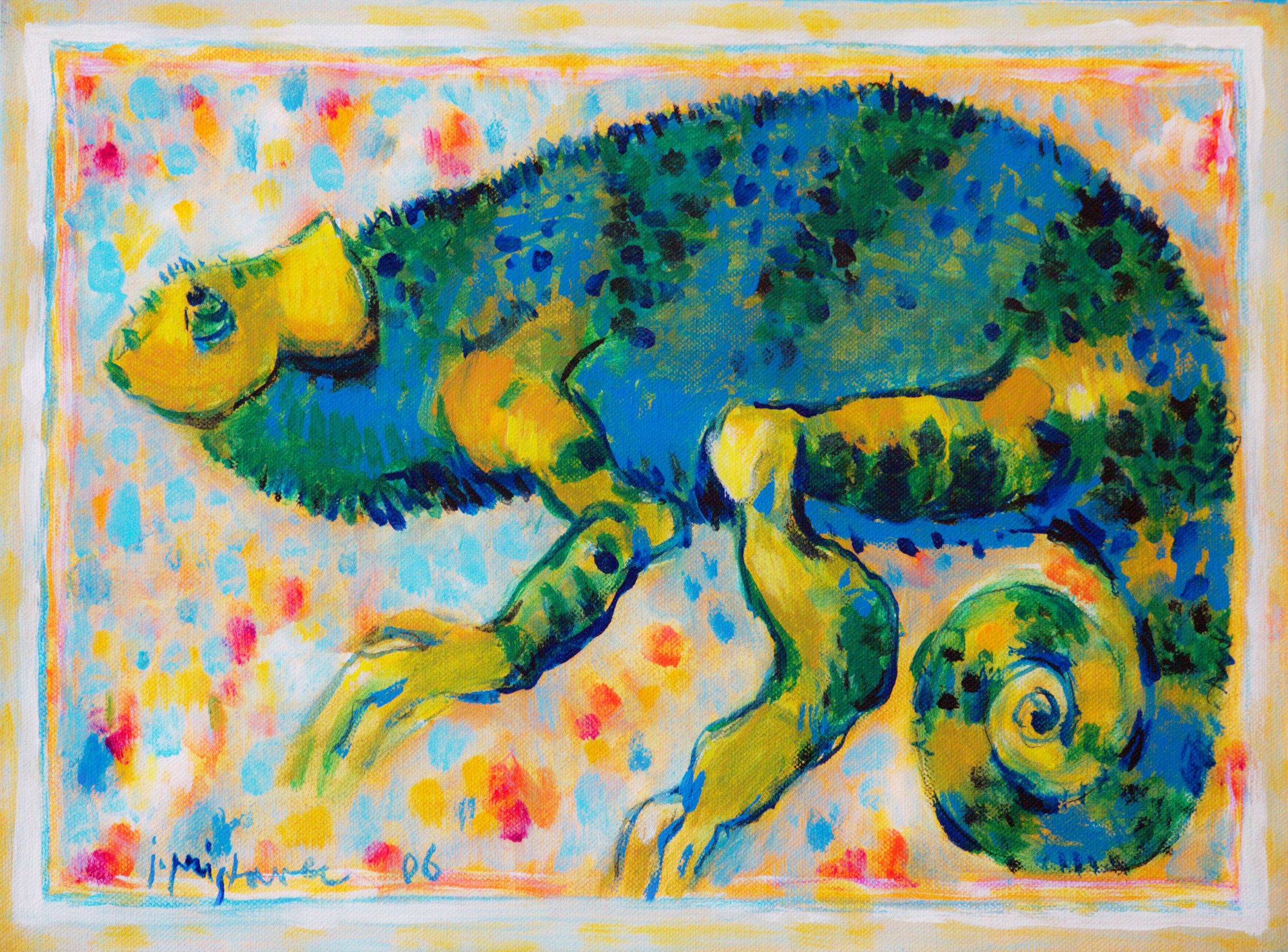 Chameleon  / 2006 / oil on canvas / 40 x 30 cm