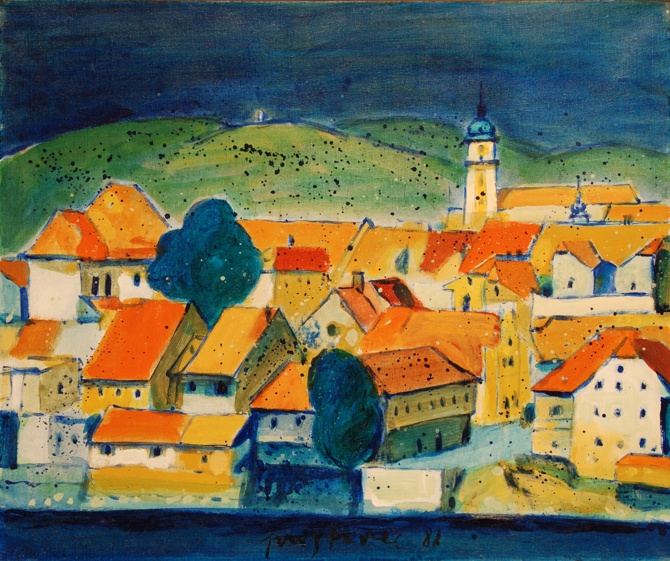 Old Lent  / 1987 / oil on canvas / 50 x 60 cm