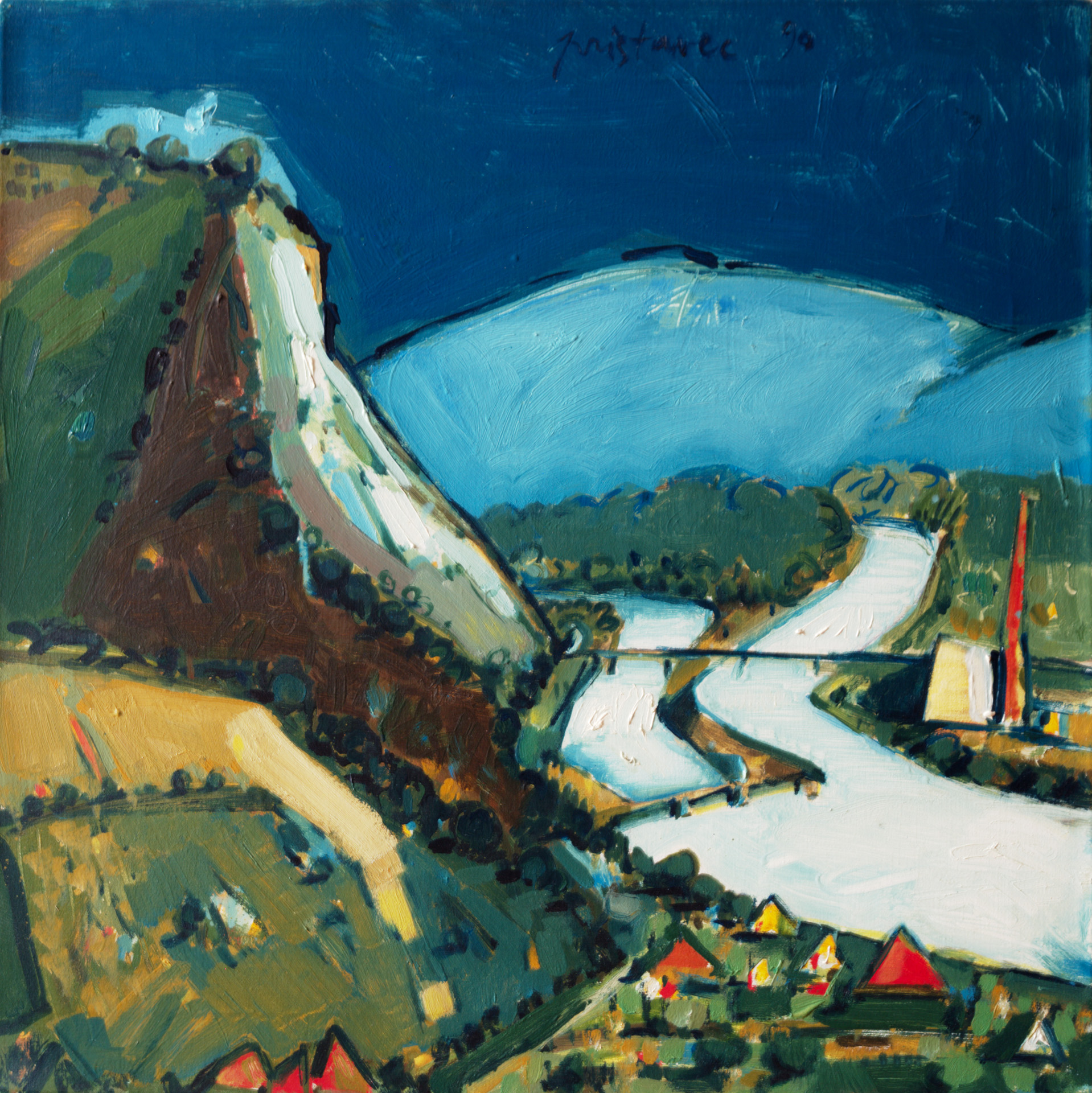 Drava  / 1990 / oil on canvas / 60 x 60 cm