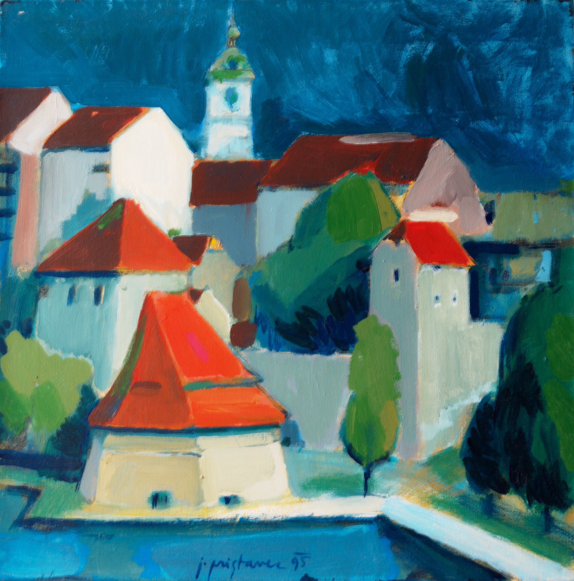 Water Tower  / 1995 / oil on canvas / 60 x 60 cm