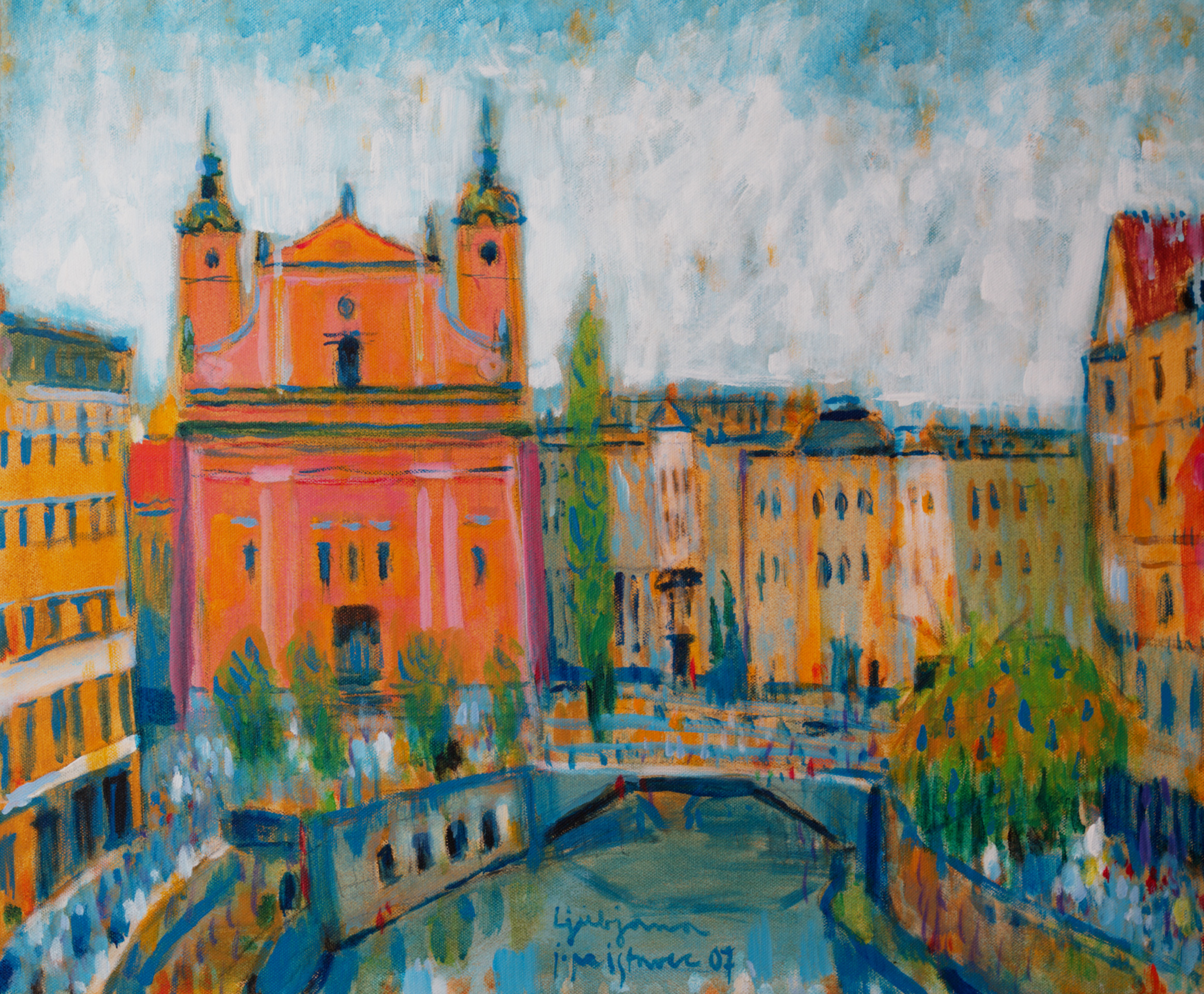 Ljubljana  / 2007 / oil on canvas / 60 x 50 cm