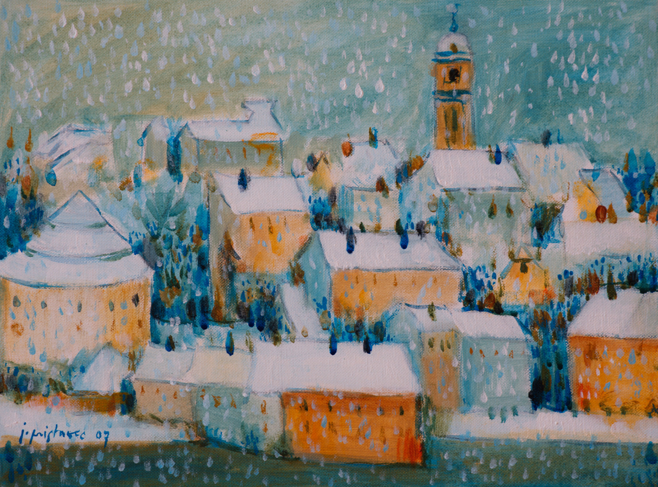 White Maribor  / 2007 / oil on canvas / 40 x 30 cm