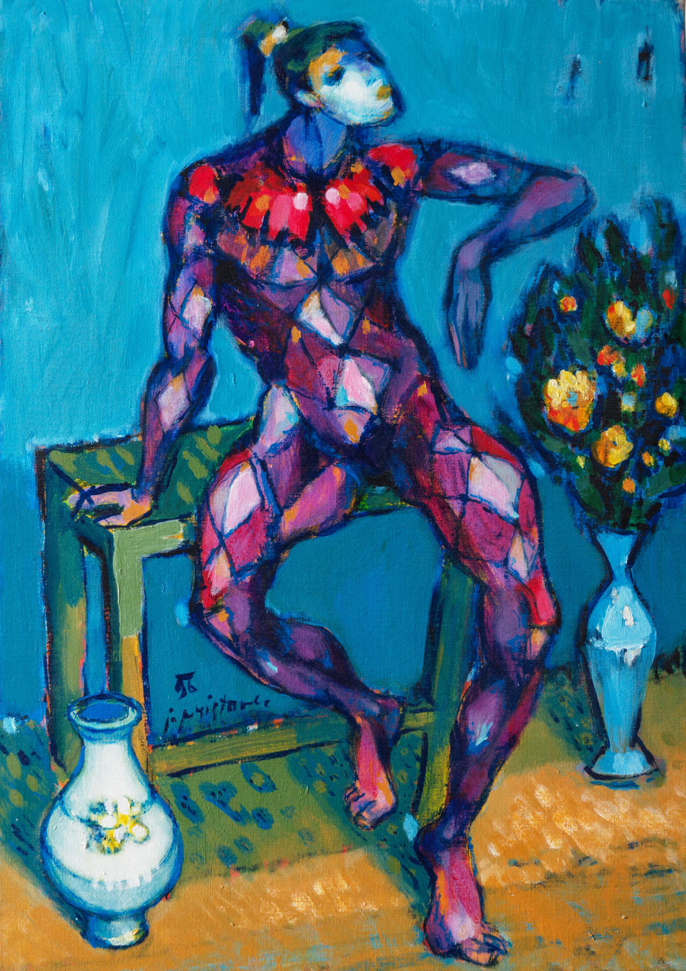 Harlequin  /  1996 / oil on canvas / 50x70 cm