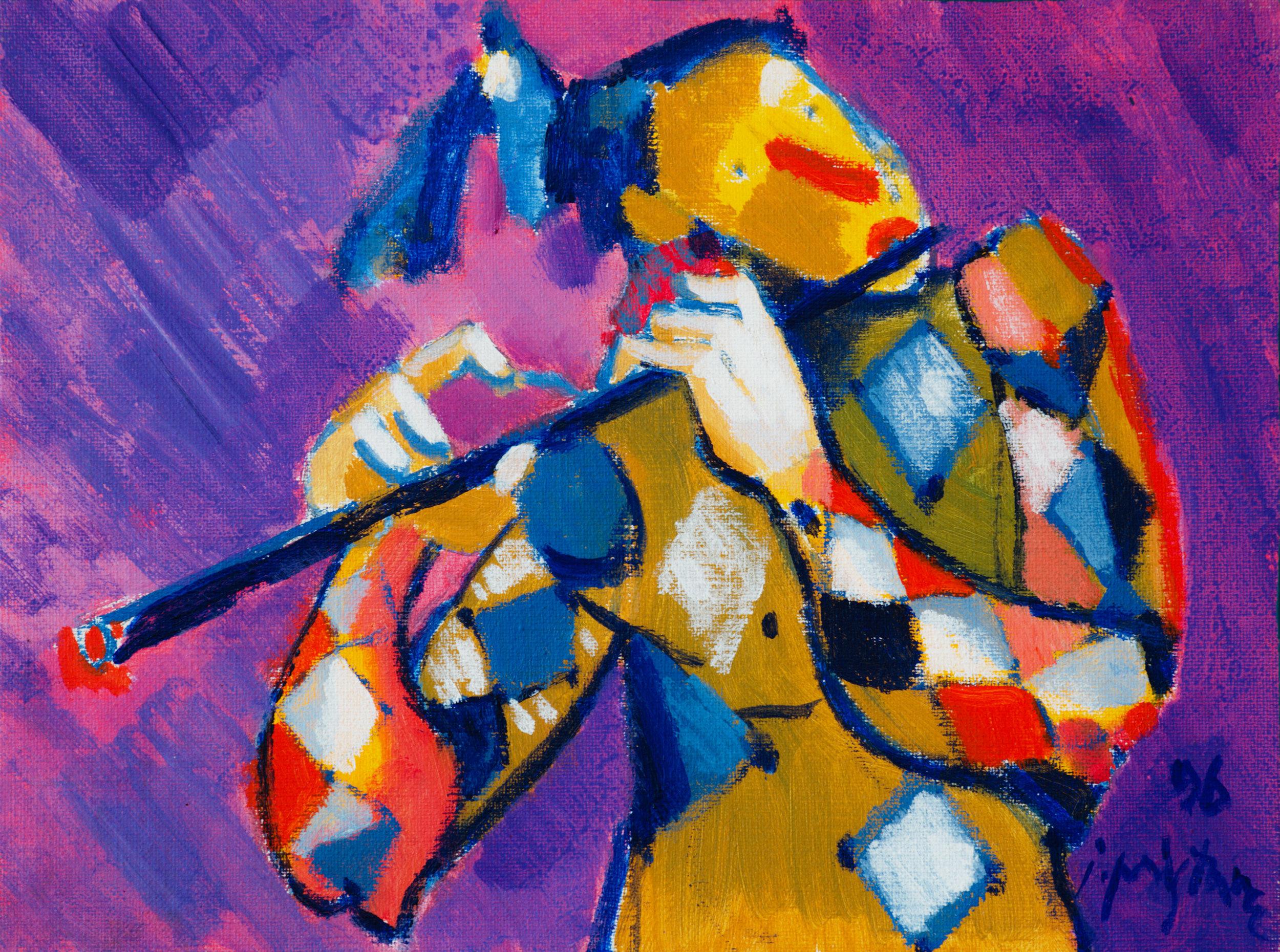Fiddler / 1996 / oil on canvas / 40x30 cm
