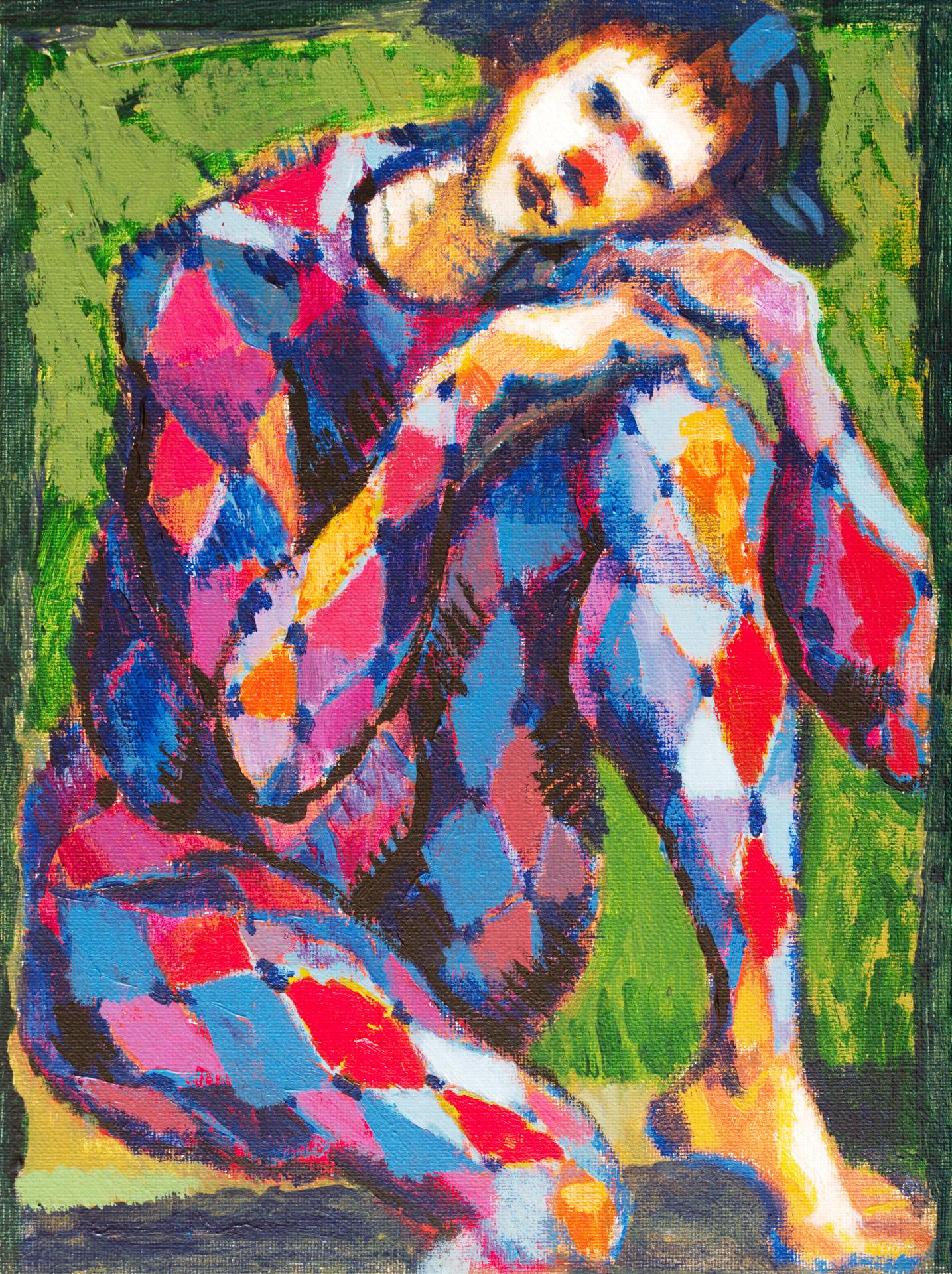 Harlequin II  / 1996 / oil on canvas / 30x40 cm