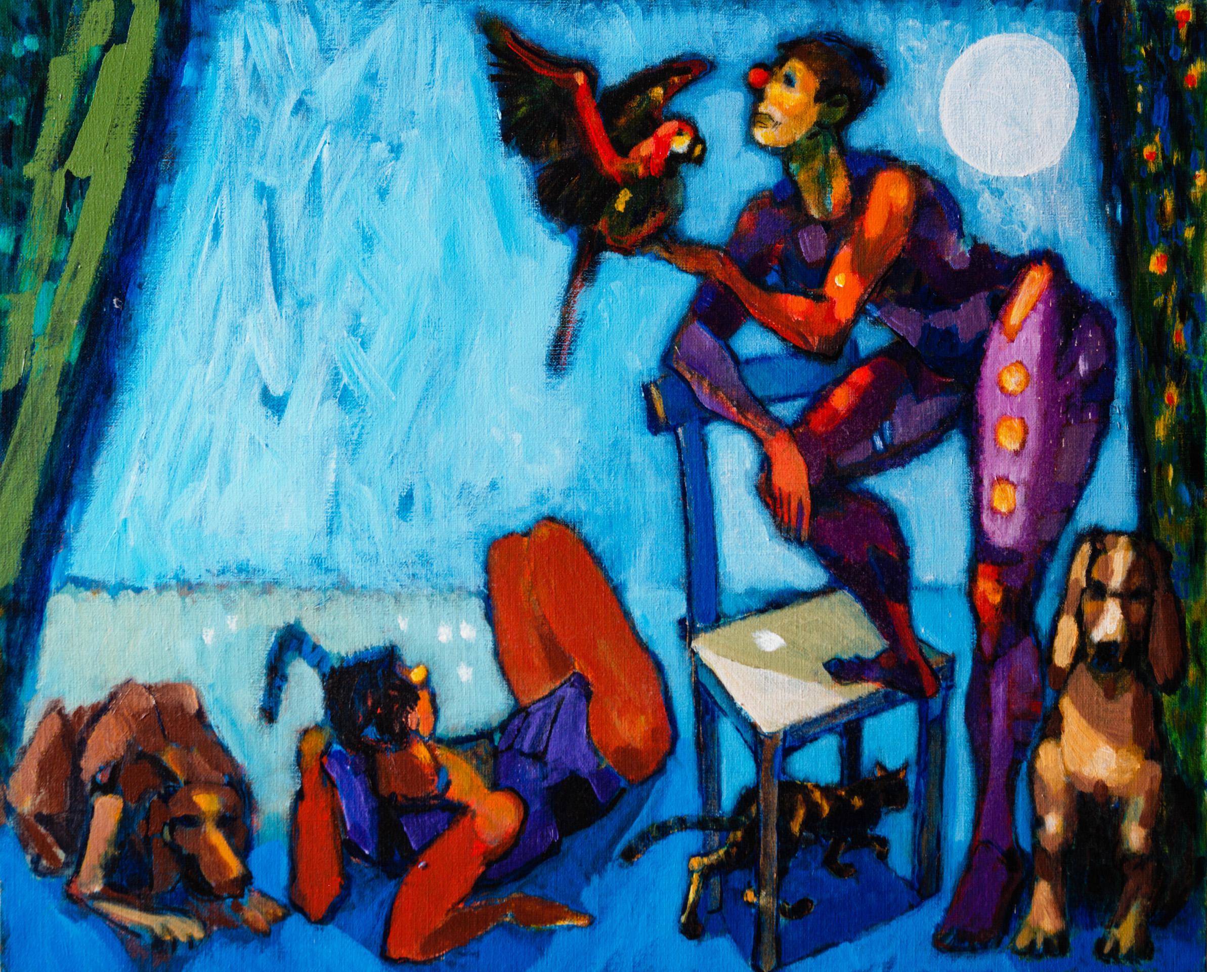 Pets / 1996 / oil on canvas / 80x65 cm
