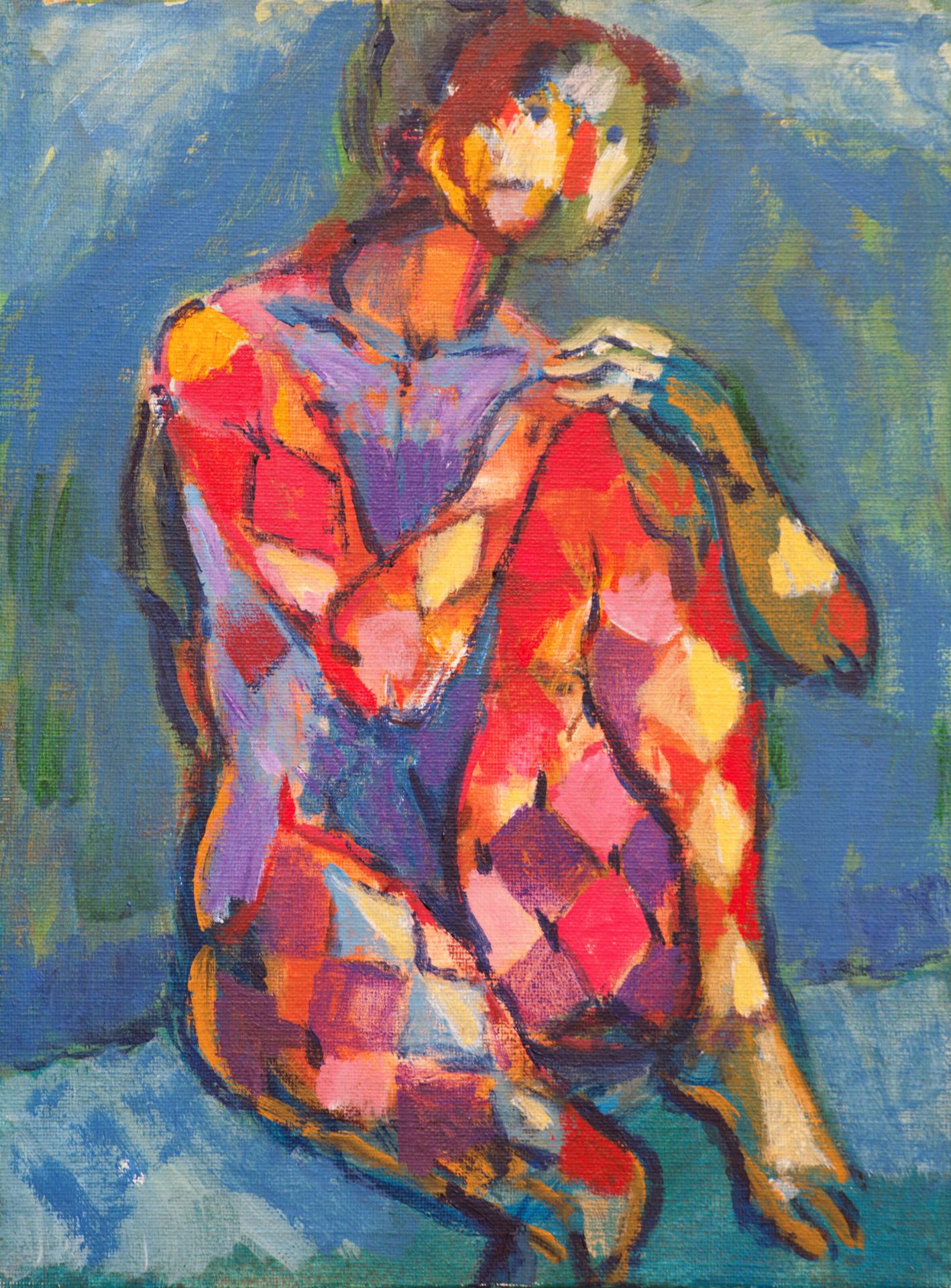 Harlequin IV  / 1996 / oil on canvas / 30x40 cm