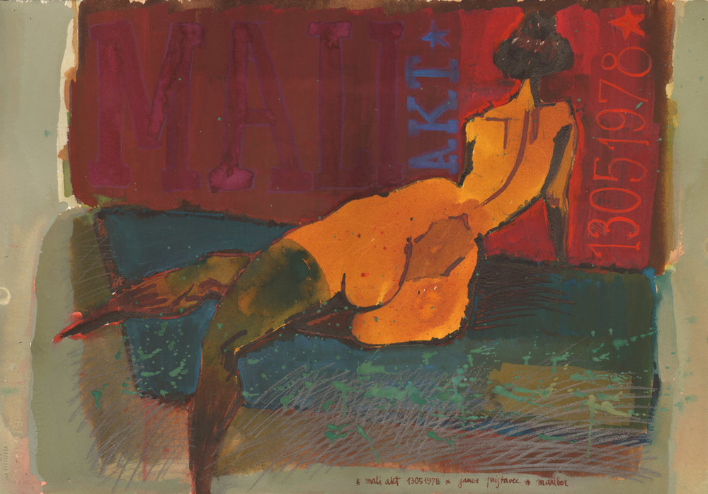 Nude  / 1974 / lythography / 100 x 70 cm