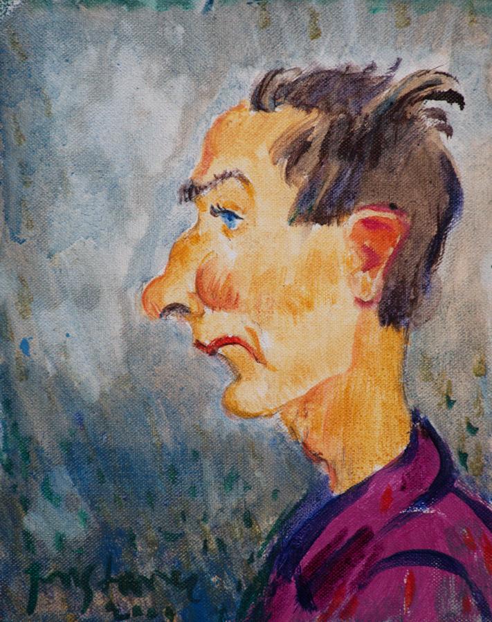 Self portrait  / 1997 / oil on canvas / 20x25 cm
