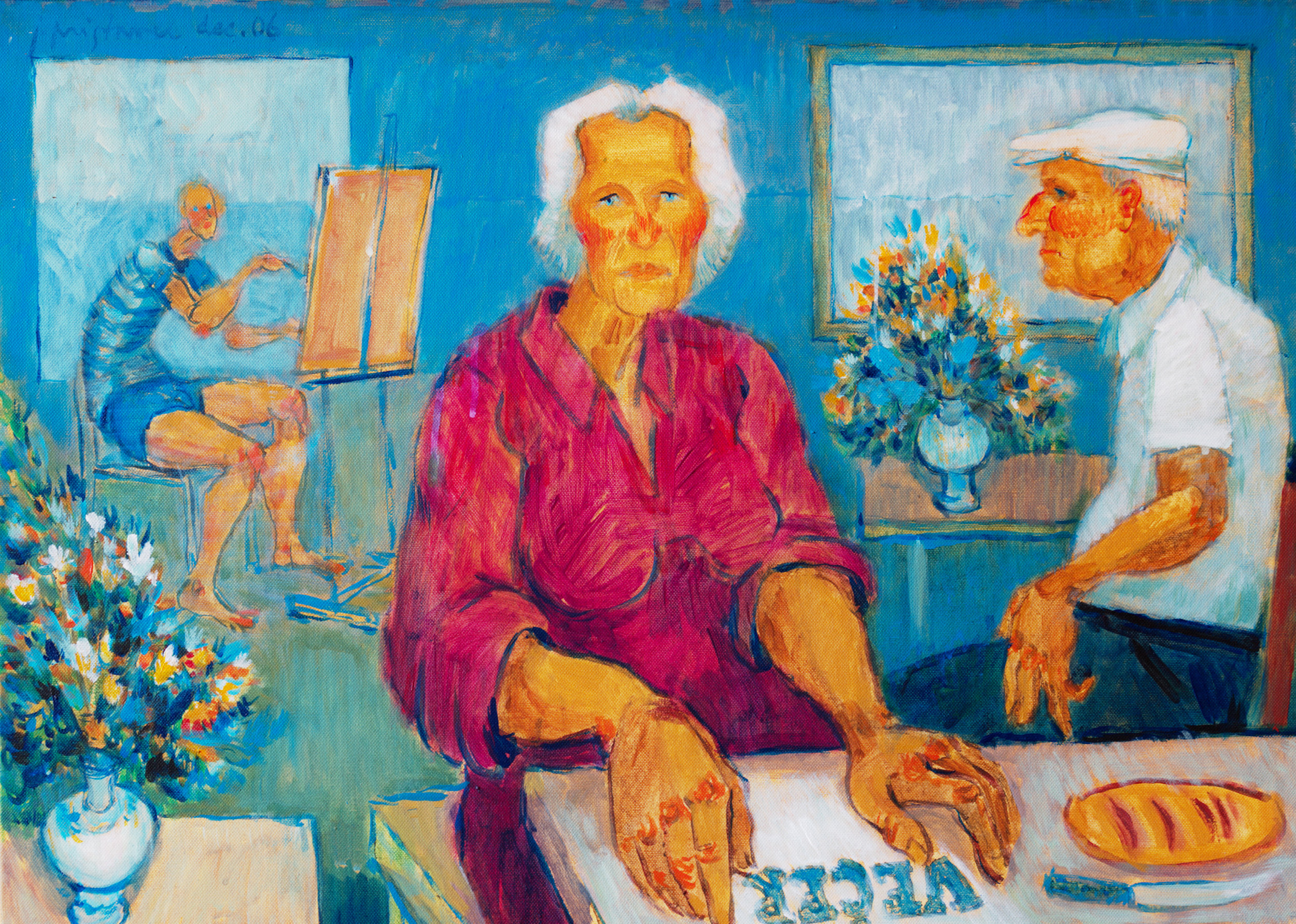In the studio  / 2006 / acryl on canvas / 70x50 cm