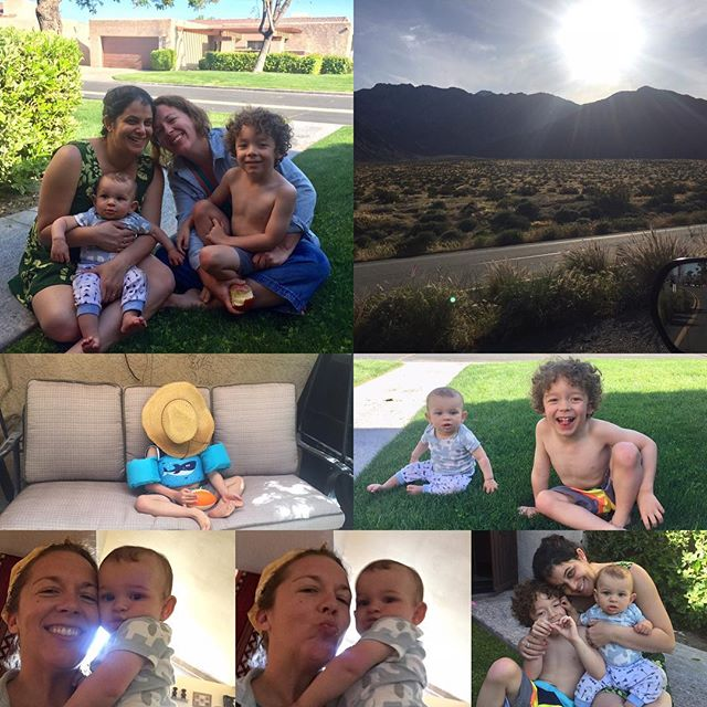 That Palm Springs life! Friends, sunshine, & baby time 🌞