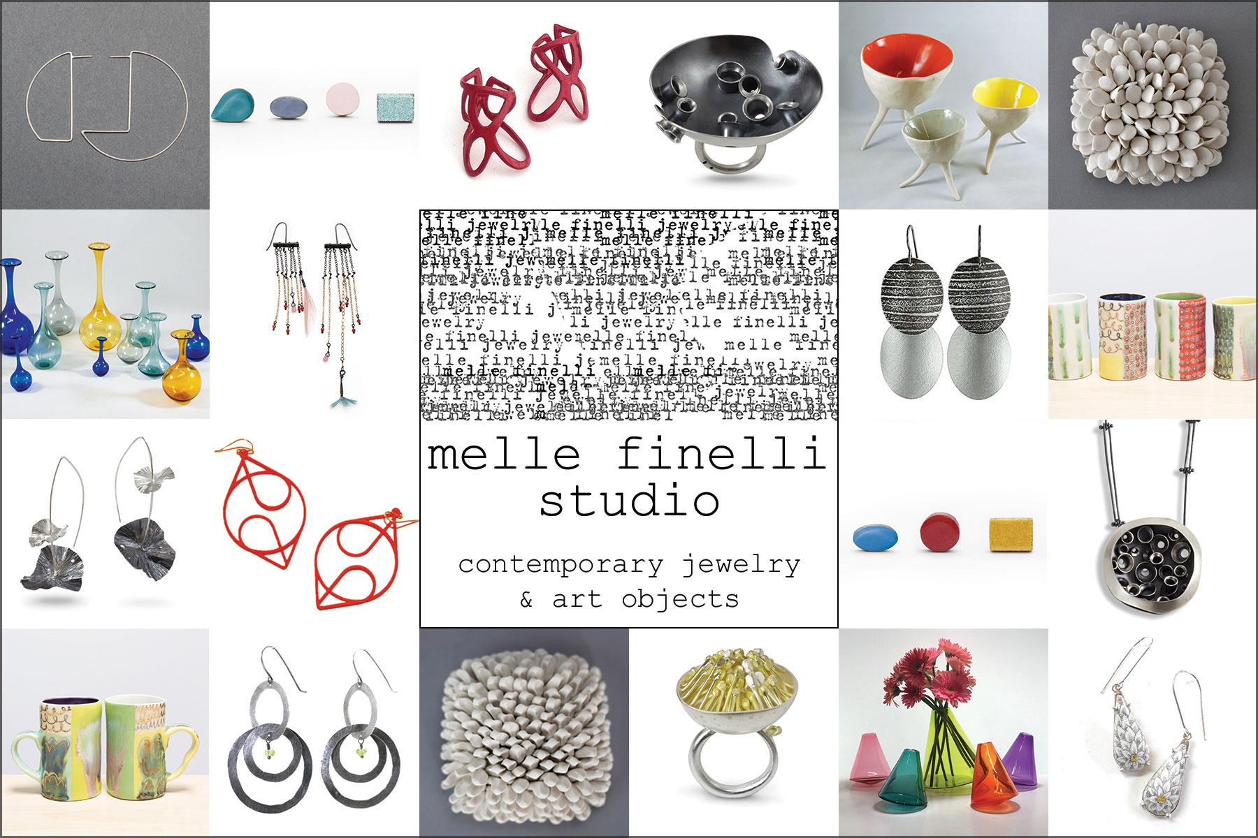 Takeaway postcard for Melle Finelli Studio, 2017.