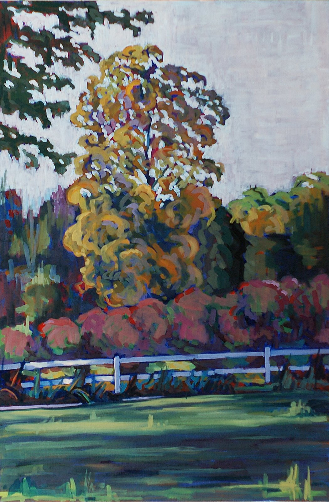 Landscape With White Fence