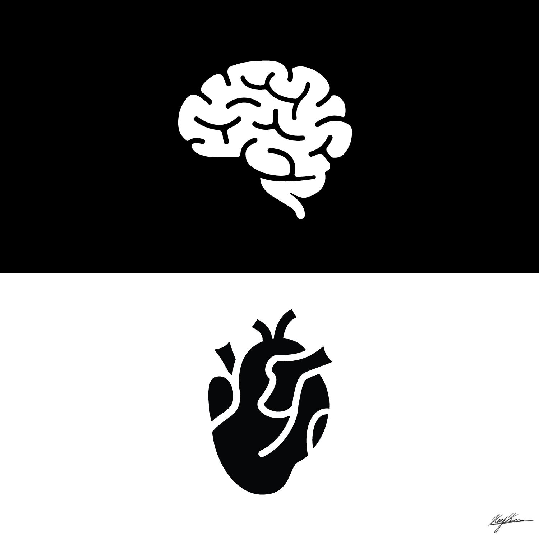 Brain vs Heart. Constant conflict.