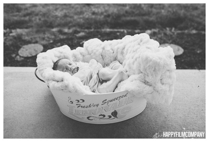 seattle newborn baby in bucket - the Happy Film Company