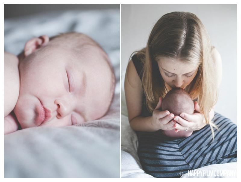 indoor newborn photos - the happy film company - seattle natural newborn photos