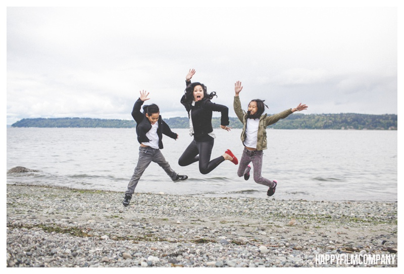 family jumping - the happy film company - seattle family photographer