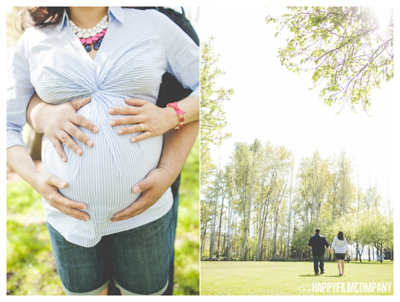 newcastle beach park - the Happy Film COmpany - Seattle maternity photos
