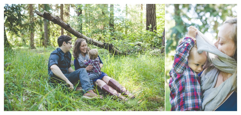 family cuddling in field   - the Happy Film Company - Seattle Family Photographer