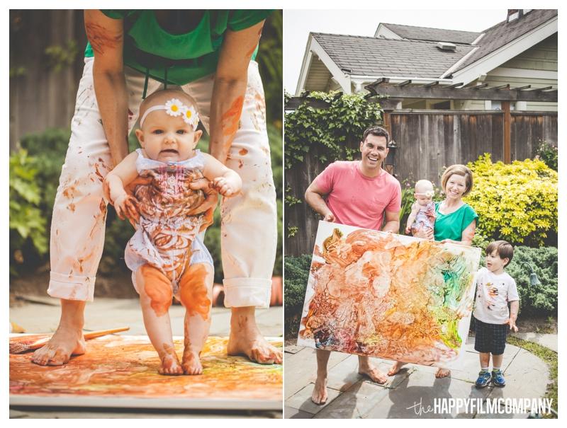 family painting photo shoot - the Happy Film Company - Seattle Family Photographer