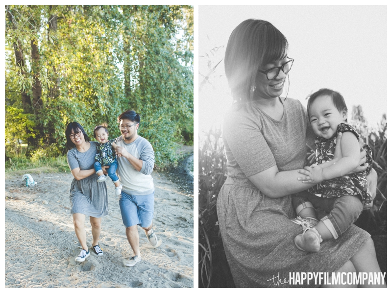 family running on the beach  - Seattle Family Videography - Sandpoint Family Photography - the Happy Film Company